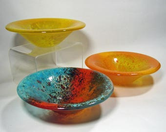glass salad or prep bowls