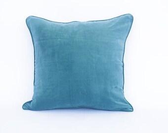 Green cushion cover, velvet cushion cover, cotton cushion, Bohemian cushion, accent cushion, decorative pillow