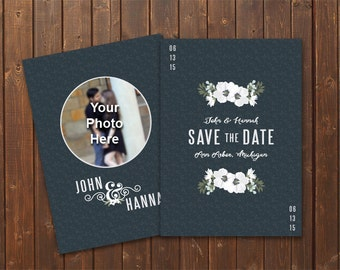 Floral DIY Printable Save the Date