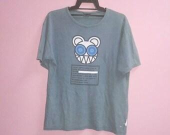 Vintage 90s Radiohead band ringer tee shirt large size L