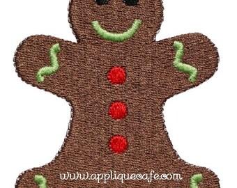534 Mini Gingerbread Man Machine Embroidery Applique Design