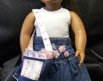 "18"" Doll Skirt, Tank, Sweater, Hat, Bag and Slippers Full Set"