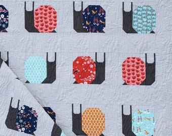Garden Snails Quilt Pattern by Pen + Paper PAPER PATTERN