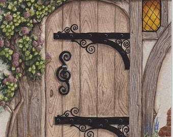 Original Painting Tudor Door