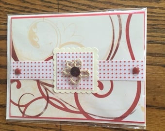 Red Dot Flower all occasion card
