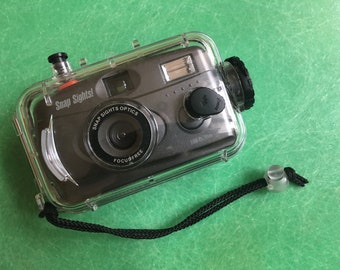 Snap Sights 35mm Point and Shoot Camera with Clear Weatherproof Case