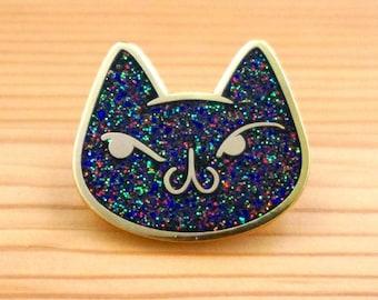 Meu Cosmic Glitter Cat Enamel Pin