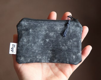 wallet for men / denim slim wallet / fabric card wallet / vegan