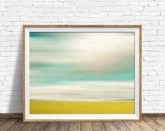 "landscape, landscape print, abstract, abstract art, pastels, large art, large wall art, instant download printable art - ""Landscape No. 1"""