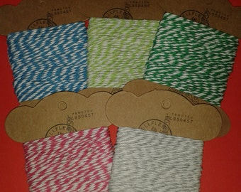 bakers twine, string, coloured string, giftwrap string, striped string, craft string, gift packaging, scrapbooking string, christmas wrap