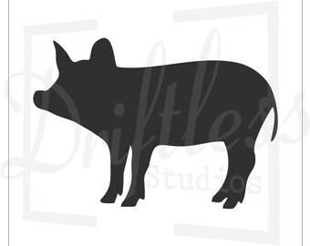 Pig Stencil, Pig Template, Farm Stencil, Pig Wall Art