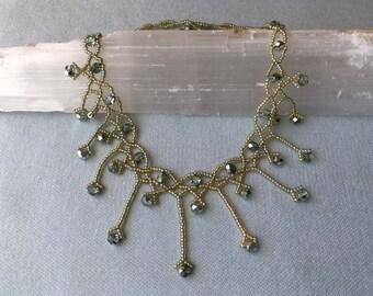 Elegant, Hand-Beaded Necklace