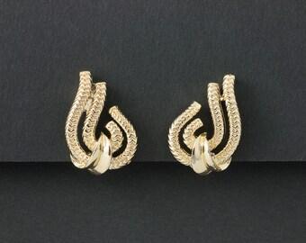 Vintage Lisner Earrings Gold tone