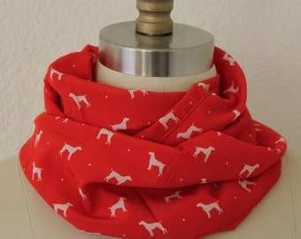 Fabulous Dog Graphic Print Infinity Scarf
