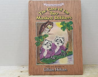 The Case of the Two Masked Robbers, 1986, Lillian Hoban, vintage kids book