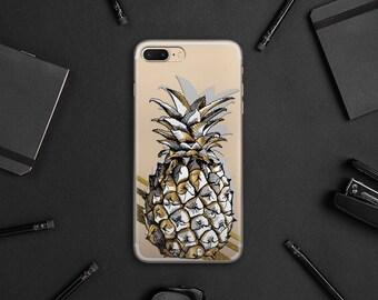 Pineapple iPhone 8 Plus Case iPhone 8 Case iPhone 7 Case iPhone 7 Plus Case iPhone 6s Plus Case Clear Case Samsung S8 Plus Case Gift WA1031