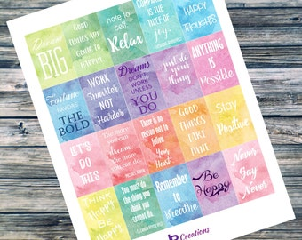 The Happy Planner Motivational Quote Stickers
