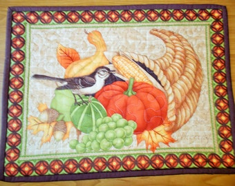 Clearance/ Fall's Basket Quilted Table Runner/Placemat