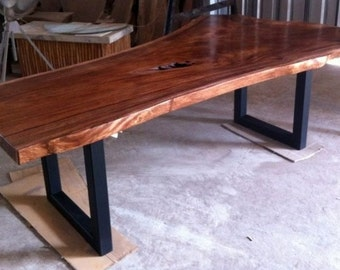 Live Edge Dining Table Reclaimed Acacia Wood Solid Slab (Extremely Rare)