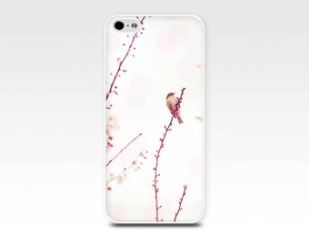 bird iphone 6 case floral iphone 6s case blossom iphone 5s case 4s girly iphone case 5 pink iphone case 4 pastel iphone case bokeh red