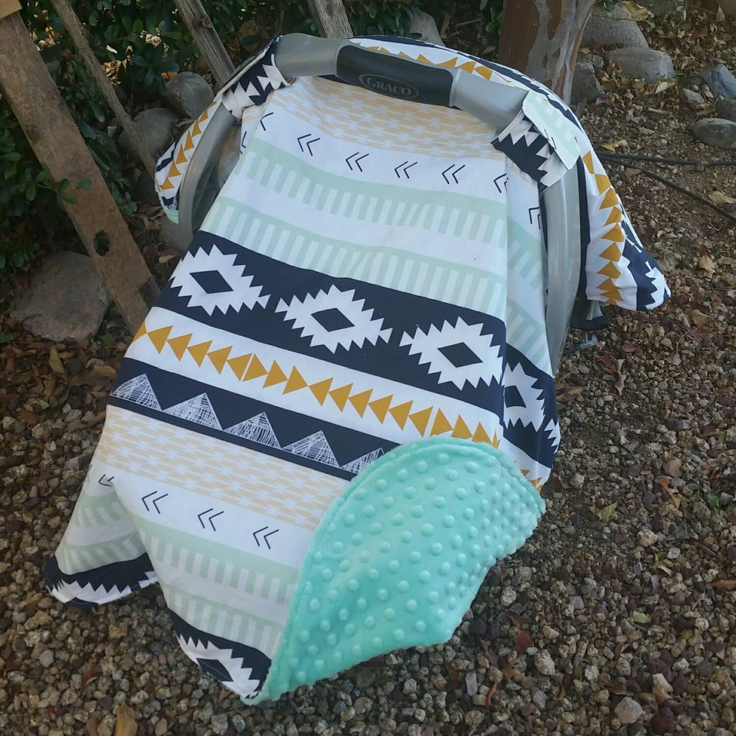 ?zoom & Baby Car Seat Canopy Baby Car Seat Cover Aztec Car Seat