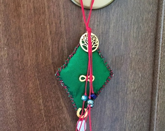 Lucky charm, Talisman, Handmade, Greek Symbols, Egst, Amulet, Ancient Greek, Symbols, Green Red, Made in Greece