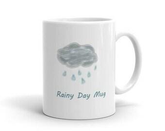 Rainy Day Mug Gift Idea Mom Dad Kids Coffee Tea Cup
