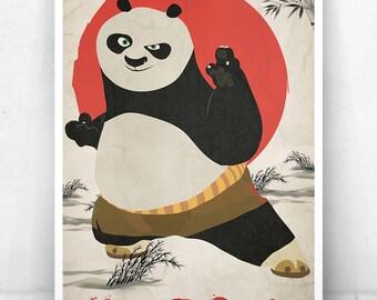 Kung Fu Panda Movie Poster / Po Poster / Kung Fu Panda / Po