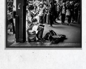 Pike Place Musician Photographic Print, Wall Art