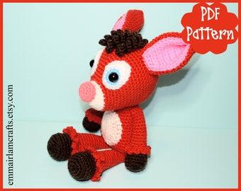 Fawn Crochet Pattern, Fawn Amigurumi, Amigurumi Pattern, Fawn Plush, Fawn Plushie,  Christmas Fawn, Cute Fawn, Crochet Fawn, PDF Pattern,