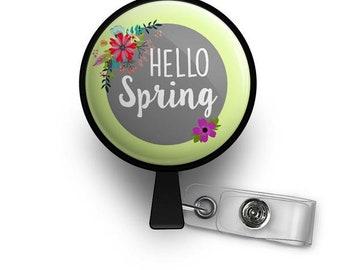 Hello Spring! Retractable ID Badge Reel