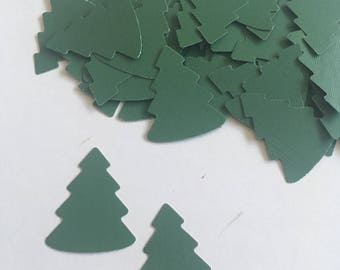Pine Tree Christmas Tree Confetti - Die Cut 50 Count