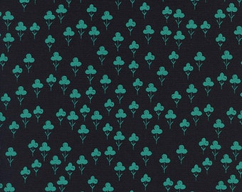Front Yard -Cotton and Steel - Sarah Watts -Clovers - Teal - Pre Order