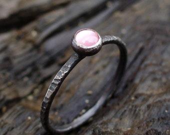 Tiny Stacking Ring - Pink Blush