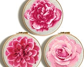 Pink flowers modern cross stitch pattern PDF Floral cross stitch love Set Rose Peony counted cross stitch floral nursery decor Embroidery
