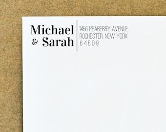 Home address stamp, interesting address label stamp, bold font, personalized, self-inking