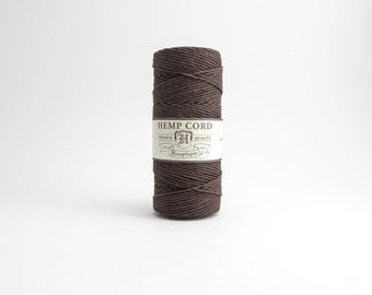 Hemptique Chocolate Brown Hemp Cord 1mm 62.5m , Hemptique Cord, Brown Hemp Cord, Chocolate Brown Hemptique Cord HMS0037