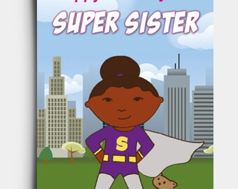 Super Sister - Birthday Card