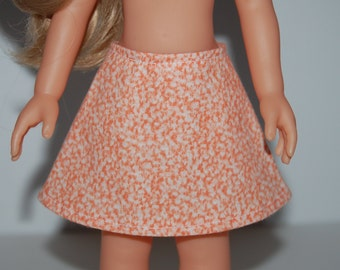 """Orange A-Line Skirt Doll Clothes Corolle 13"""" Les Cheries 14"""" Hearts for Hearts Betsy McCall  tkct933"""