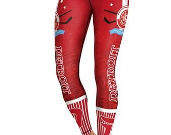 Detroit Red Wings Women's Leggings Hockey NHL