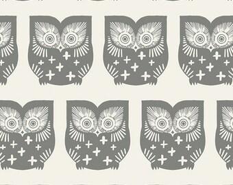 Owls Crib Sheet, Changing Pad Cover, Has Hoot Gra, Art Gallery Fabrics, Heartland Collection, Nursery Bedding, Owl Crib Bedding