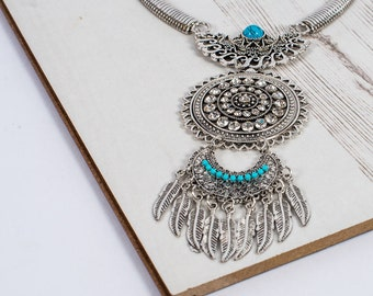 The Blue Bohemian Beauty Statement Necklace