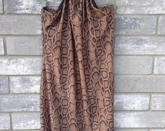 90s snake print club halter dress
