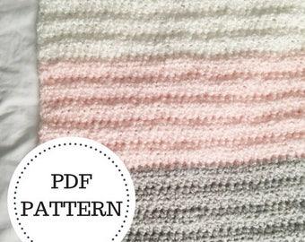 PATTERN for the Easiest Crochet Baby Blanket   Crochet Pattern   Blanket Pattern   Crochet   Blanket   Baby   Baby Gift   Nursery   Decor  