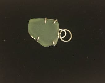 Sea Glass Silver Pendant