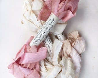 Marie Antoinette coloured french ribbon set of 3 . scrapbooking and sewing, ebroidery ribbons in vintage colours.