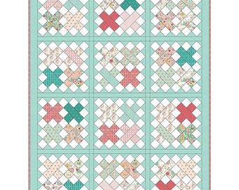 Cross Stitch Quilt Kit, Just Sayin' Fabric