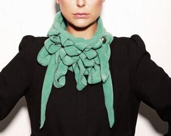Ellie - Glass Fleece Scarf, Soft Green, Ladies Scarf