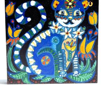 Blue cat with stripes