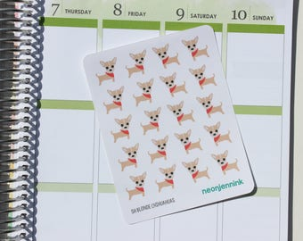 Blonde Chihuahua Stickers (Set of 20 Stickers)